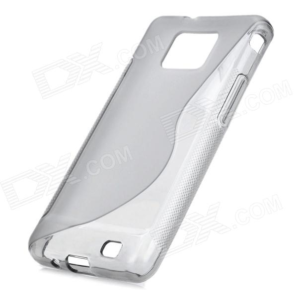 Protective Rubber Gel Silicone Back Case for i9100 Galaxy ...