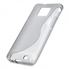 Protective Rubber Gel Silicone Back Case for i9100 Galaxy S2 - Translucent Grey