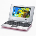"7.0 ""TFT LCD Android 2.2 VIA 8650 CPU WiFi UMPC Netbook - Pink (349.79MHz/2GB/3-USB/SD/LAN)"