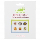 Football Club Logo Style Home Button Stickers for iPhone/iPad/iPod Touch (6-Piece Pack)