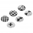 Skull Style Home Button Stickers for Iphone/Ipad/Ipod Touch (6-Piece Pack)