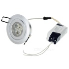 5W 450LM 6000K White LED Ceiling Lamp/Down Light with LED Driver (85~265V)