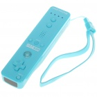 Remote with MotionPlus & Silicone Sleeve + Nunchuck Controller Set for Wii - Blue (2 x AA)