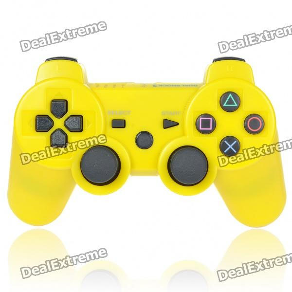 Designer's DualShock 3 Bluetooth Wireless SIXAXIS Controller for PS3 - Yellow (Nude Packed)
