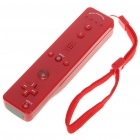 Designer's Remote Controller Built-in Motionplus with Silicone Sleeve + Strap for Wii - Red (2 x AA)