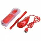 Remote with Silicone Sleeve + Nunchuck Controller Set for Wii - Red (Nude Packed / 2 x AA)