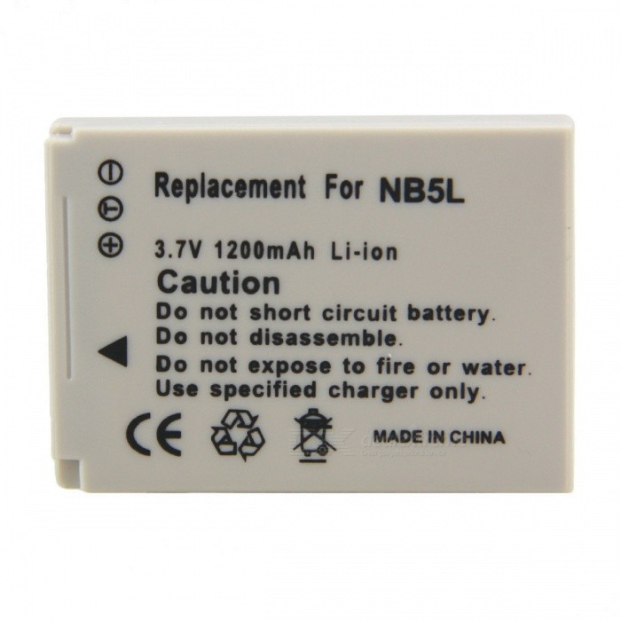 Replacement NB-5L Compatible 3.7V 1200mAh Battery Pack for Canon Cameras bp 208 compatible 850mah battery pack for canon mvx1sidc10 dc20 more