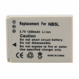 Replacement NB-5L Compatible 3.7V 1200mAh Battery Pack for Canon
