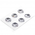 Cartoon Pirate Design Home Button Stickers for Iphone/Ipad/Ipod Touch (6-Piece Pack)