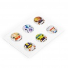 Fashion Cute Home Button Stickers for Iphone/Ipad/Ipod Touch (6-Piece Pack)