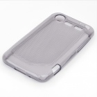 Protective Rubber Gel Silicone Back Case for HTC Incredible S - Translucent Grey