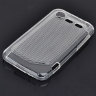 Protective Rubber Gel Silicone Back Case for HTC Incredible S - Translucent White