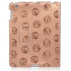 Protective Ultrathin Chinese Dragon Design PU Leather Cover Case for   Ipad 2 - Brown