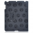 Protective Ultrathin Chinese Dragon Design PU Leather Cover Case for   Ipad 2 - Black