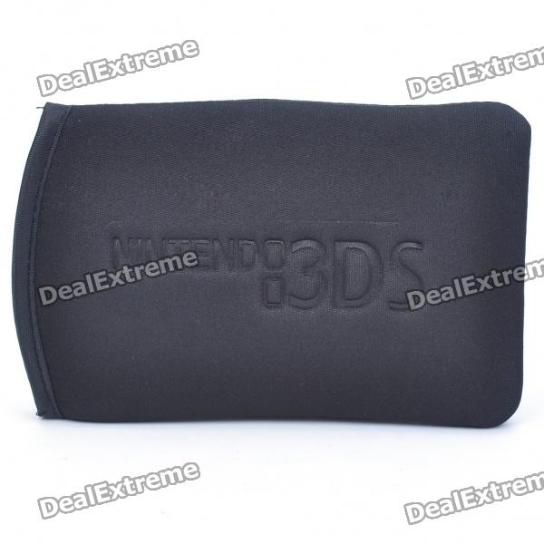 Protective Soft Cloth + Cotton Bag for Nintendo 3DS - Black