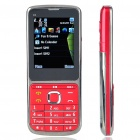 "C3 2.2"" LCD Dual SIM Dual Network Standby Dualband GSM Cell Phone w/ FM/Flashlight - Red"