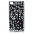 Stylish Shinning Protective PC Back Case for iPhone 4 - Black Spiderweb