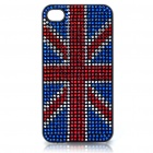 Stylish Shinning Protective PC Back Case for iPhone 4 - UK Flag