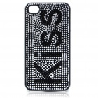 Stylish Shinning Protective PC Back Case for iPhone 4 - Kiss