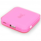 1900mAh Emergency Power Rechargeable Battery Pack with USB Port for MP3/MP4/Ipod (Pink)