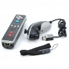 Nunchuk Controller + Remote Controller with Motion Plus for Nintendo Wii - Black