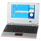 "7 ""TFT LCD Windows CE 6.0 VIA8650 CPU WiFi UMPC Netbook - Rot (349.79MHz/2GB/3xUSB/SD/LAN)"