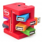6-Port USB 2.0 Hub + M2/MS/TF/MMC/SDHC Card Reader