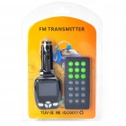 "1.6"" LCD Car MP3 Player FM Transmitter with IR Remote Controller (3.5mm Audio/SD/USB)"
