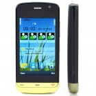 "3.0"" Touch Screen Dual SIM Dual Network Standby Quadband GSM Cell Phone w/ FM - Green + Black"