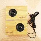 Microbon Mini Wooden Powered Stereo Speakers
