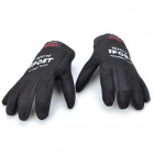 Anti-Slip Velvet Cloth Sporty Full-Finger Gloves - Black (Size L/Pair)