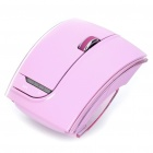 Fuhlen 2.4GHz Folding Wireless 1600DPI Arc Laser Mouse with USB Receiver - Pink (2 x AAA)