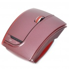 Fuhlen 2.4GHz Folding Wireless 1600DPI Arc Laser Mouse with USB Receiver - Wine Red (2 x AAA)