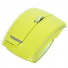 Fuhlen 2.4GHz Folding Wireless 1600DPI Arc Laser Mouse with USB Receiver - Light Green (2 x AAA)