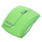 Fuhlen 2.4GHz Folding Wireless 1600DPI Arc Laser Mouse with USB Receiver - Green (2 x AAA)