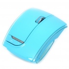 Fuhlen 2.4GHz Folding Wireless 1600DPI Arc Laser Mouse with USB Receiver - Blue (2 x AAA)