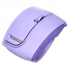 Fuhlen 2.4GHz Folding Wireless 1600DPI Arc Laser Mouse with USB Receiver - Purple (2 x AAA)
