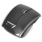 Fuhlen 2.4GHz Folding Wireless 1600DPI Arc Laser Mouse with USB Receiver - Black (2 x AAA)