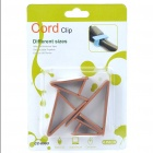 Triangle Wire Cord Cable Clip Organizer - Coffee (4 Piece Pack)