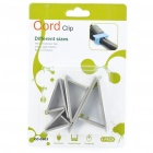 Triangle Wire Cord Cable Clip Organizer - Light Grey (4 Piece Pack)