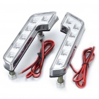 Universal 12W White 12-LED Day Driving Lights for Car (Pair)