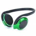 H-580 Bluetooth V2.0+EDR A2DP Handsfree Stereo Headset - Green + Black (13-Hour Talk)