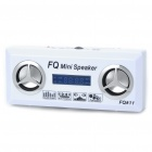 Mini USB Rechargeable MP3 Music Speaker with FM/SD/TF/USB - White