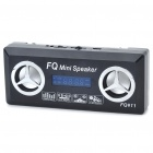 Mini USB Rechargeable MP3 Music Speaker with FM/SD/TF/USB - Black