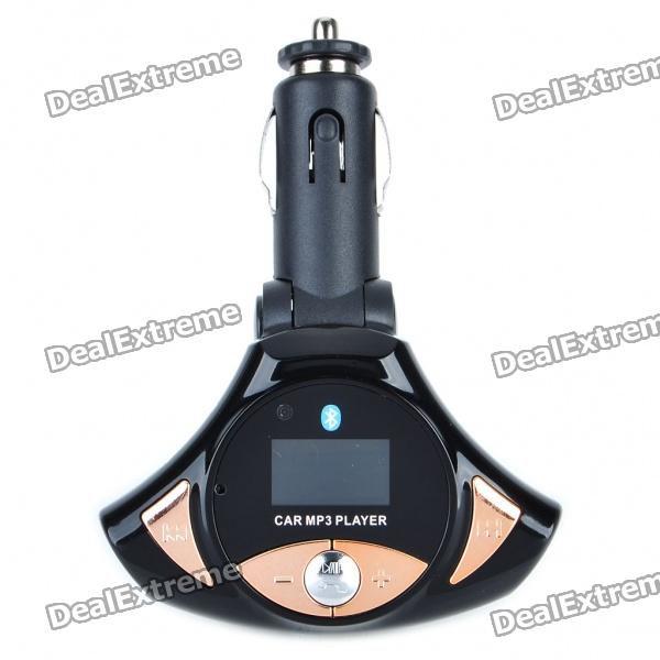 "0.9 ""LCD Bluetooth V2.0 MP3-Player FM Transmitter w / Caller ID + 2 Remote Controller (SD / TF / USB)"