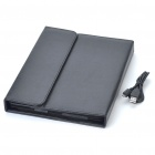 2.4GHz Bluetooth V2.0 Wireless 76-Key Keyboard with Protective PU Leather Case for Ipad 2 - Black