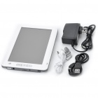 "7.0"" Touch Screen LCD E-Book Reader 720P Multimedia Player w/ TF/FM/Voice Recorder - White (4GB)"