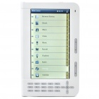 "7.0"" TFT LCD E-Book Reader 720P MultiMedia Player w/ TF/FM/Voice Recorder - White (4GB)"