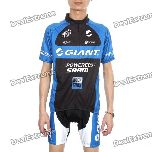 Giant Team Short Sleeve Bicycle Bike Riding Suit Sports Clothes Set (Size-XXL/175-185cm)