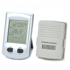 "2.7"" LCD Wireless Digital Indoor Outdoor Thermometer with Clock (2 x AA + 2 x AAA)"